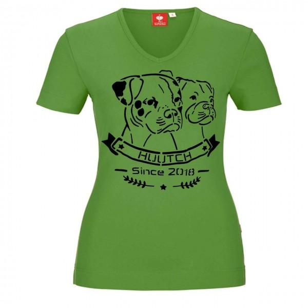 T-Shirt V-Neck - seegruen